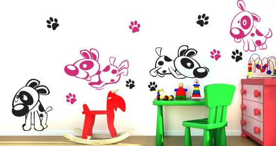 Dogs wall stickers