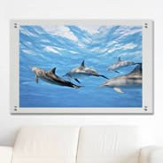 Ocean Dolphins Plexiglass Stand Off