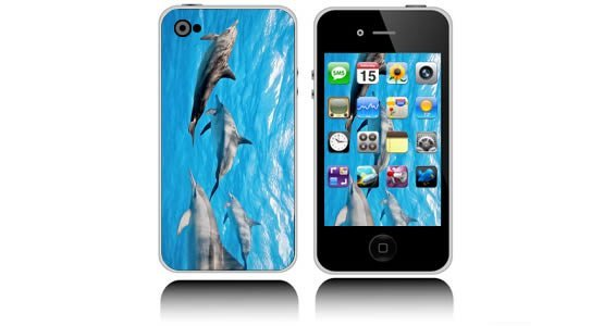 Dolphins iPhone decals skins