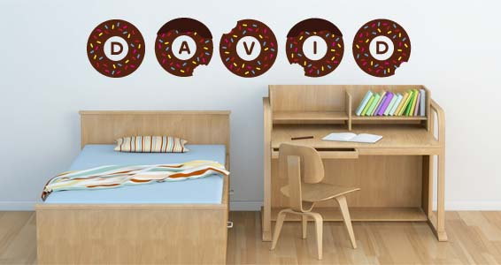 Personalized  Donuts Lettering wall stickers