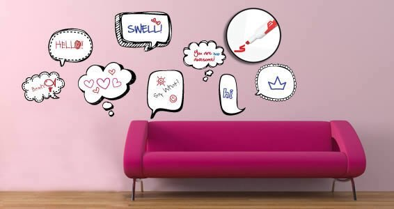 Cool Bubble Thoughts Dry Erase Decals Part 69