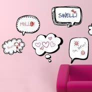 Cool Bubble Thoughts dry erase decals