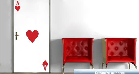 Life is a Casino adhesive wall stickers
