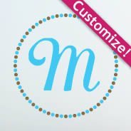 Circles Art Monogram Wall Decals