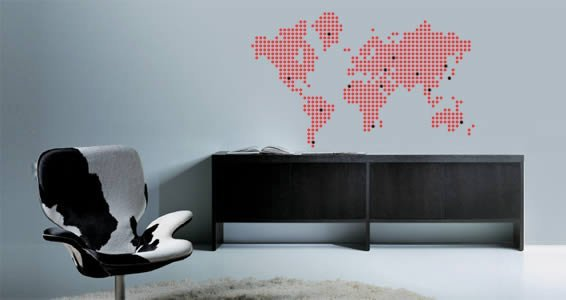 Dots World Map wall decals  Dezign With a Z