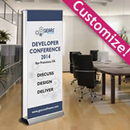 Double sided retractable & portable Banner Stand