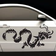 Dragon car decals