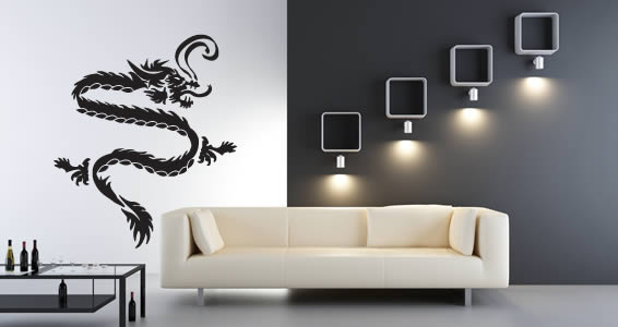 dragon wall decals dezign with a z. Black Bedroom Furniture Sets. Home Design Ideas
