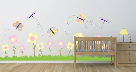 Pastel Garden wall decal pack