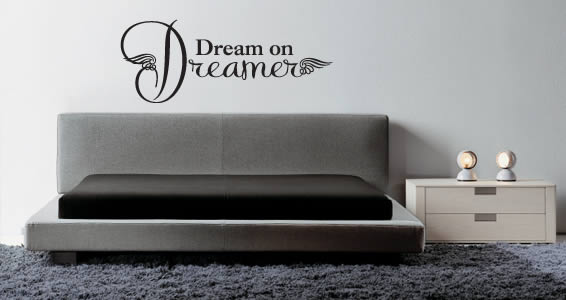 Dreamer wall decal quote
