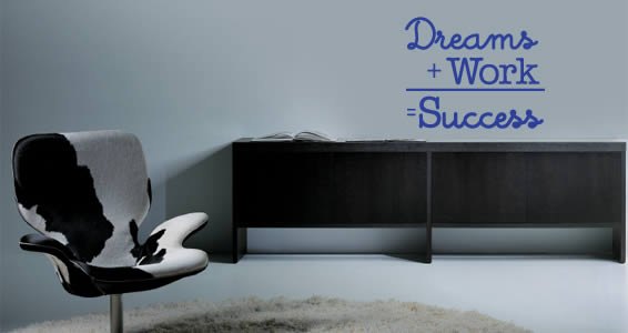 Dreams Work Success quote decals