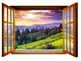 Mountain Valley Faux Window Murals
