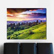 Dreamy Moutains wall canvas