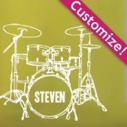 Personalized Lettering Drums