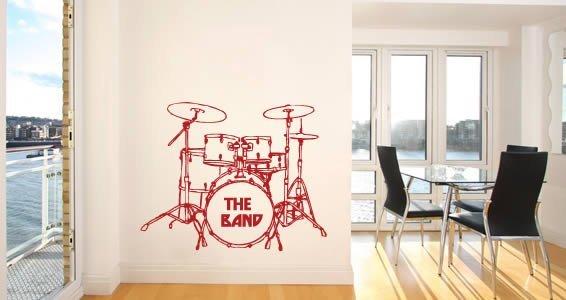 My Drum Set wall decals