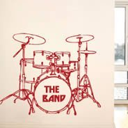 My Drum Set wall decals