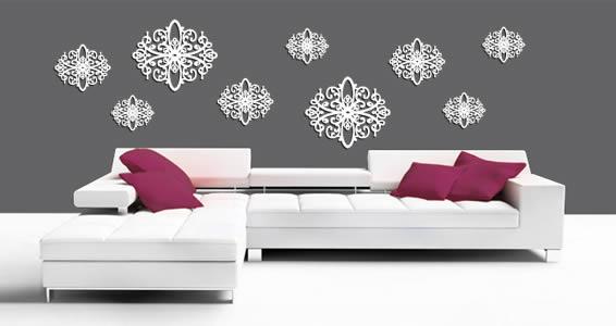 Duo Baroque wall appliques