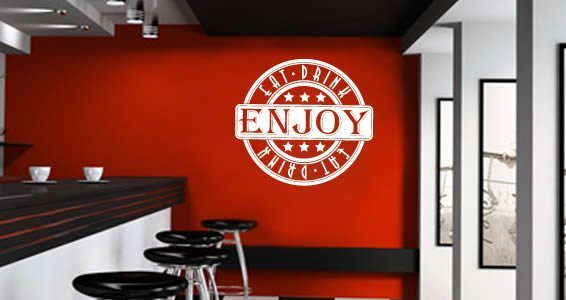 Eat Drink Enjoy wall sticker