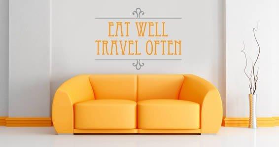 Eat Well Travel Often bicolor decals