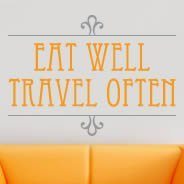 Eat Well Travel Often bicolor decals