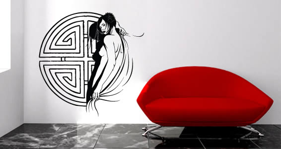 Geisha wall decals