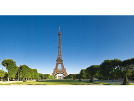 Eiffel Tower Garden wall canvas