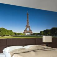 Eiifel Tower Garden wall murals