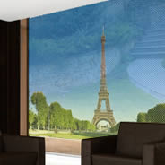 Paris Eiffel Tower see through  window decals