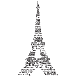 Eiffel Tower Word Art decals