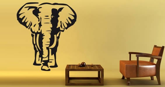 Beautiful Elephant Wall Stickers