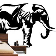 Elephants Jungle wall decals