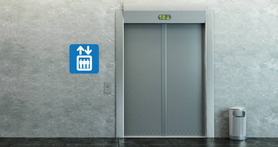 Elevator Sign decals