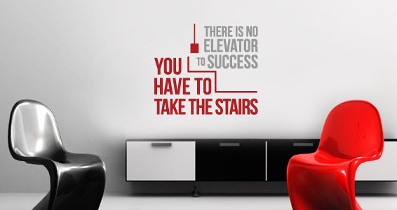 Elevator Success quote decal