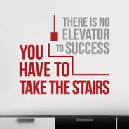 Elevator Success quote decal