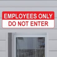 Employees Only Sign decals