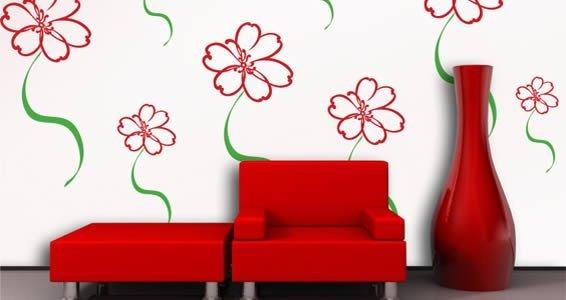 Fairy Daisy Flower vinyl wall stickers