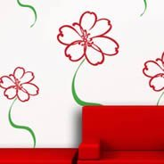 Fairy Daisy Flower vinyl wall stickers