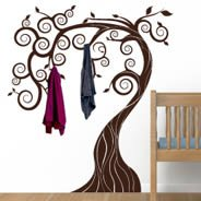 Fairy Tree coat racks decals