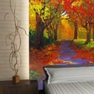 Fall Leaves Dry Erase decal Furniture Skin