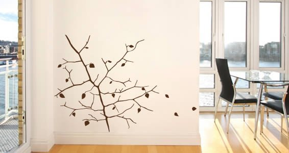 Autumn branch wall stickers