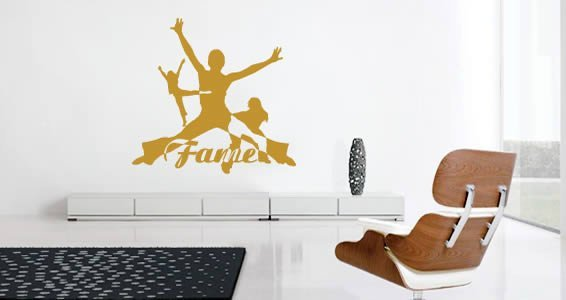Fame wall decals