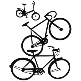 Family Bike wall decal