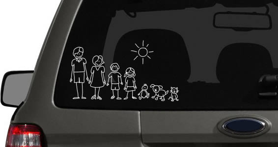 My Family Car Sticker Dezign With A Z - Family car sticker decals