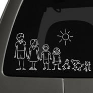 My Family car sticker
