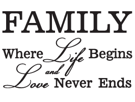 Family Life Love wall decal