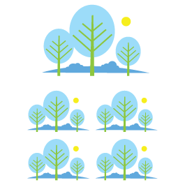 Family of Tree wall decals