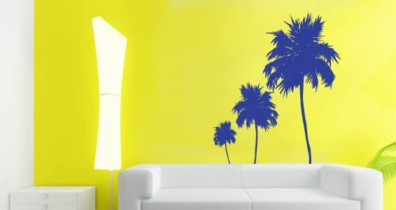 Three Palm Trees Wall Decals Part 77
