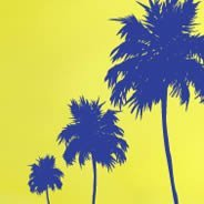 Three Palm Trees wall decals