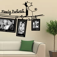 Family Portrait wall tattoos