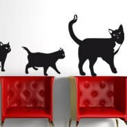 Family Cat wall decals